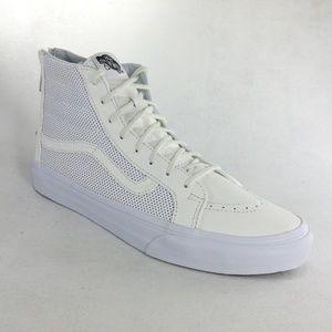 New Rare VANS SK8-Hi Slim Zipper White Sneakers